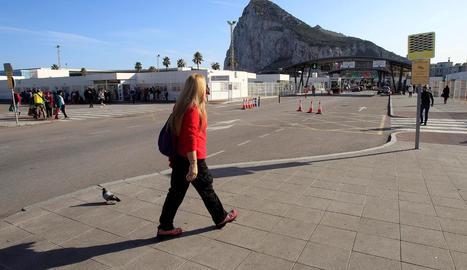 Imatge d'arxiu del pas fronterer amb Gibraltar.