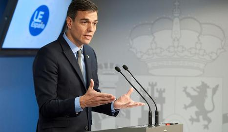 El president del Govern central, Pedro Sánchez, ahir a Brussel·les.