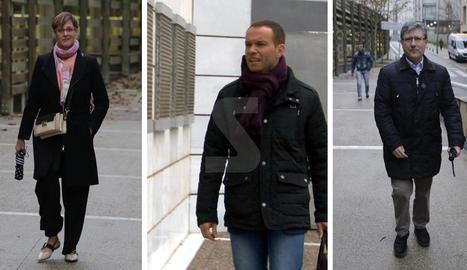 Ribes i Osorio, de Cs, i Vilella, del PP, en qualitat d'investigats, després d'una denúncia del PDeCAT