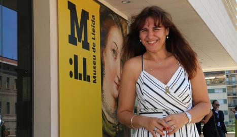 La consellera de Cultura Laura Borràs, en la seua visita el mes de juliol passat al Museu de Lleida.