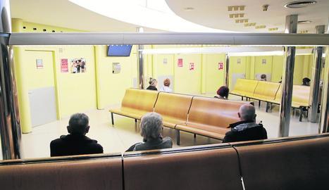 La sala d'espera de l'hospital Santa Maria estava ahir pràcticament buida.