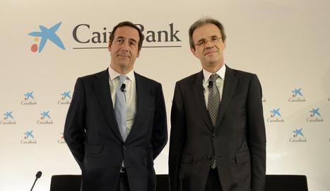 Gonzalo Gortázar i Jordi Gual van presentar el pla a Londres.