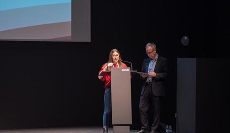 Meritxell Castillo va exposar la seua experiència als futurs cineastes.