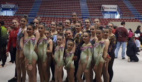 El Club Inef Lleida participa a l'Estatal de gimnàstica estètica