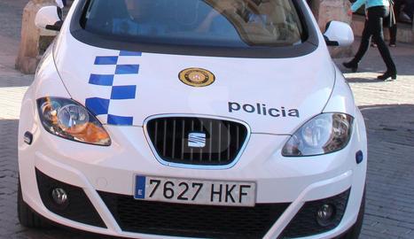 Una patrulla de la Guàrdia Urbana de Lleida.