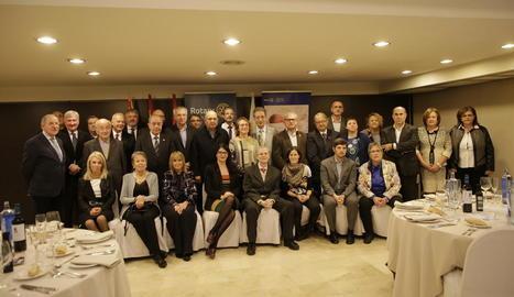 L'homenatge va tenir lloc ahir en el sopar solidari del Club Rotary Lleida a l'hotel NH Pirineus.