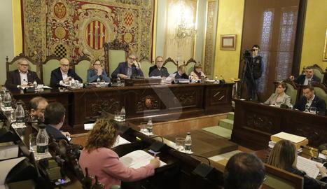 Un moment del ple ordinari del mes de novembre de l'ajuntament de Lleida.