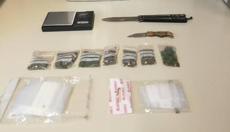Les bosses de marihuana i les navalles comissades al jove al Centre Històric de Lledia