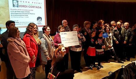 ERC va entregar el premi Cortada a l'Aula Magna de Medicina.