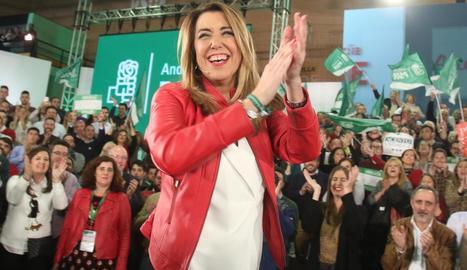 La candidata socialista a la reelecció a la Junta andalusa, Susana Díaz.