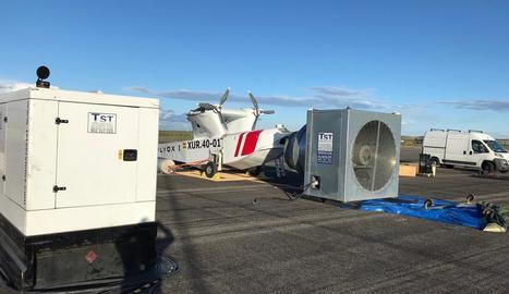 Prototip de Singular Aircraft la primavera passada a Alguaire.