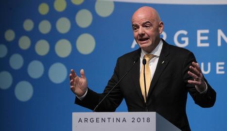 El president de la FIFA, Gianni Infantino, ahir a Buenos Aires.