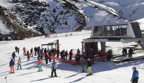 L'estació de Boí Taüll va rebre ahir diumenge uns 1.200 esquiadors, més els 1.300 de dissabte.