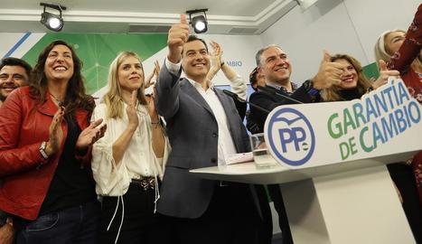 La candidata socialista a la presidència de la Junta d'Andalusia Susana Díaz i el del Partit Popular, Juan Manuel Moreno.