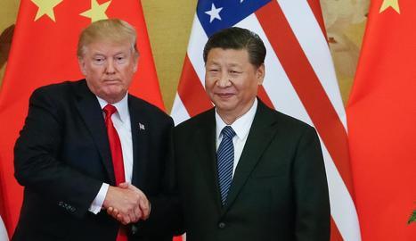 Imatge d'arxiu de Donald Trump i Xi Jinping.