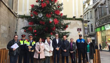 La presentació del dispositiu de seguretat i trànsit a Lleida durant la campanya de Nadal.