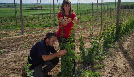 Quiònia Pujol i Òscar Mogilnicki, els promotors de la granja.