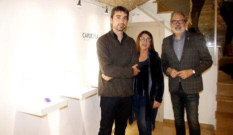Manel Capdevila, Margarida Aldabó i l'alcalde, Fèlix Larrosa.