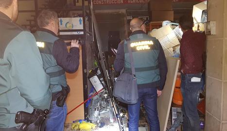 Escorcoll del magatzem que tenien els tres detinguts.