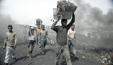L'abocador d'Agbogbloshie a Ghana és un dels llocs més contaminats del món.
