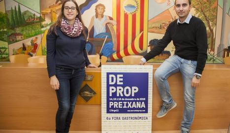 Sandra Heras i Jaume Pané, ahir a la presentació de la fira.