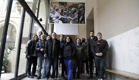 Els fotògrafs autors de les imatges, entre ells Lleonard Delshams, Itmar Fabregat i Amado Forrolla de SEGRE.