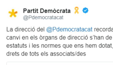 ... I la direcció del partit avisa