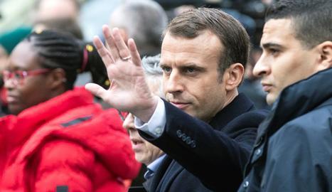 El president francès, Emmanuel Macron, diumenge passat a París.
