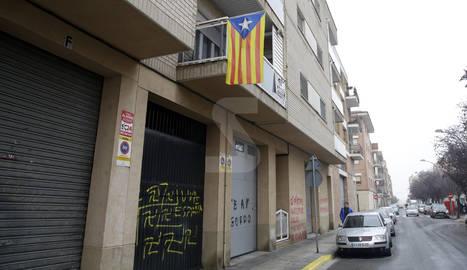 Les pintades, al carrer Boqué, van aparèixer ahir.