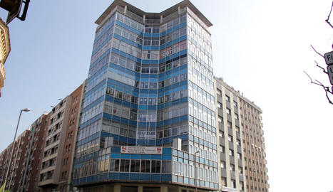 Imatge d'arxiu de l'edifici dels sindicats, on actualment només hi ha la UGT.