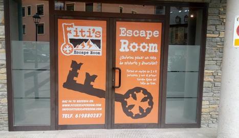 Entrada a l''escape room' de Vielha.