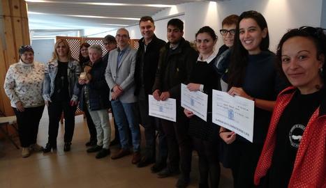 Foto dels premiats divendres pel consell.
