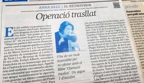 Captura de l'article d'Anna Sàez