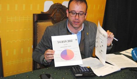 Marc Solsona va presentar el pressupost del 2019.