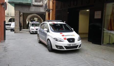 Arribada ahir dels detinguts als jutjats de Balaguer on van prestar declaració.