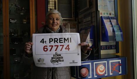 El punt de venda de la plaça Berenguer IV de Lleida ha venut un dècim del quart premi.