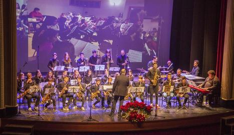 Un moment del concert dels alumnes de Tàrrega.