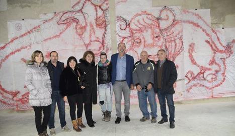 La inauguració de l'exposició dedicada al mural.