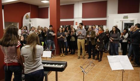 Imatge de la inauguració del centre per als joves de Vielha.