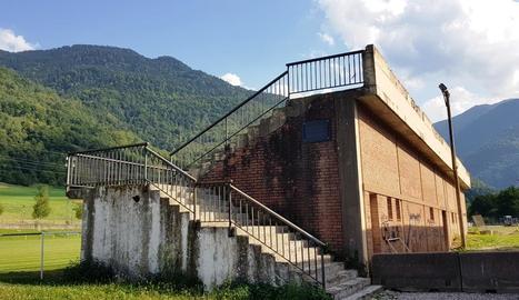 Imatge dels vestidors del camp de futbol de Bossòst.