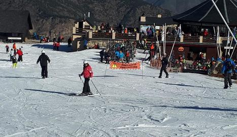 L'estació d'Espot va rebre ahir 1.340 esquiadors.