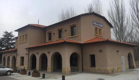 L'estació de tren de la Pobla de Segur.