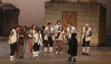 Moment de l'obra representada a Tàrrega.