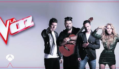 Els 'coaches' de la nova edició de 'La Voz', que passa a Antena3.