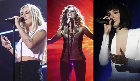 María, Noelia i Natalia són les tres cantants més votades pel públic.