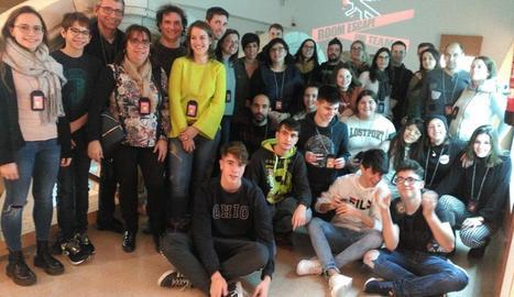 Imatge dels participants en l''escape room'.