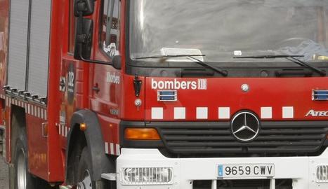 Un vehicle dels Bombers de la Generalitat