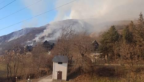 Vista de l'incendi des de Gessa.