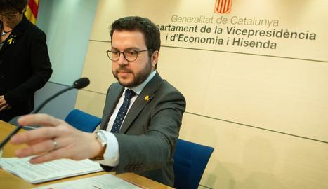 El vicepresident del Govern i conseller d'Economia, Pere Aragonès.