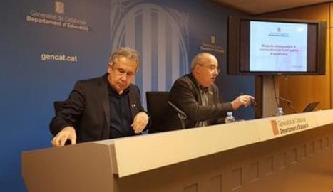 Josep Bargalló i Ignasi Garcia-Plata durant la roda de premsa.